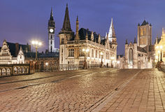 Ghent at night Stock Image