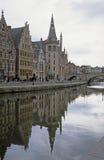 ghent reflexion Royaltyfri Fotografi
