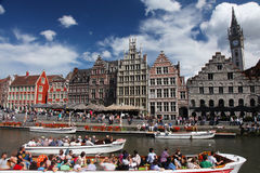 Ghent river Royalty Free Stock Photo