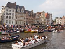 Ghent Rowing Boats Stock Image