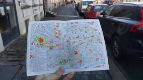 Ghent& x27; s地图 库存图片