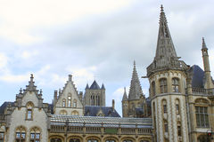 Ghent steeples Stock Image
