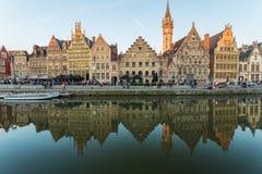 Ghent town, Belgium, Europe. Stock Photos