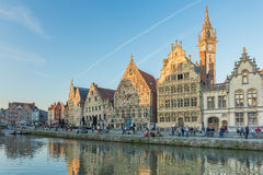 Ghent town, Belgium, Europe. Royalty Free Stock Images