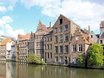 Ghent typiska hus Ghent, Belgien Fotografering för Bildbyråer