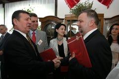 Gheorghe Antochi och Grigore Horoi Arkivbild