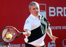 Gheorghe Hagi Plays Tennis Royalty Free Stock Images