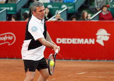 Gheorghe Hagi Plays Tennis Royalty Free Stock Photography