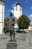 Gheorghe Lazar statue Stock Photography