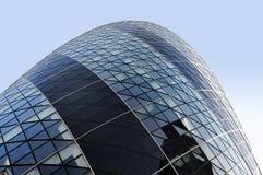 The Gherkin. London Gherkin building and blue sky Royalty Free Stock Photos