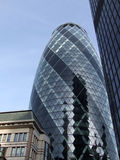 The Gherkin 2. A view of the modern office building in London commonly known as  the Gherkin but in reality its real name is St Marys Axe Royalty Free Stock Photo
