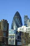 The Gherkin building Stock Images