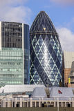 The Gherkin building in London Royalty Free Stock Image