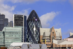 The Gherkin building in London Stock Photos
