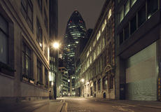 Gherkin building at night Stock Photography
