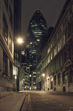 Gherkin building at night Stock Images