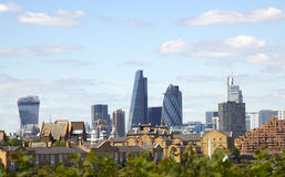 The Gherkin, Cheesegrater and Walkie Talike Buildings Stock Image
