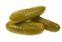 Gherkin isolated. Gherkin( dill pickle) isolated on a white background Royalty Free Stock Image