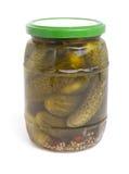 Gherkin jar Royalty Free Stock Image