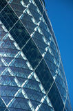 The Gherkin, London. A view of the 'Gherkin' building in London. 30 St Mary Axe (colloquially referred to as the Gherkin) is a skyscraper in London's main Stock Photo