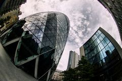 Gherkin in London Stock Photo