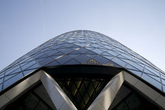 The Gherkin in London. Modern skyscraper known as the Gherkin in London Stock Photo