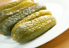 Gherkin pickles. Close up .Shallow depth-of-field Stock Photo