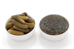 Gherkin Pickles and Relish Royalty Free Stock Image