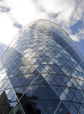 Gherkin in the sky. The siluet of Gherkin´s building Royalty Free Stock Photo
