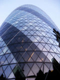 The Gherkin sky-scraper, The Gherkin building in central London England Royalty Free Stock Photo