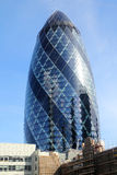 The gherkin skyscraper in London royalty free stock image