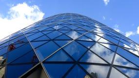 The Gherkin Skyscraper in London. August 2014 stock image