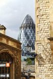 The Gherkin From The Tower Of London Stock Photo