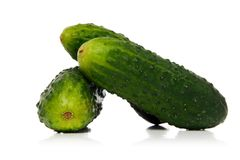 Gherkins. Isolated over white background Royalty Free Stock Image