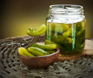 Gherkins. Pickles stock photos