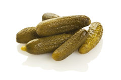 Gherkins on white background Royalty Free Stock Photography