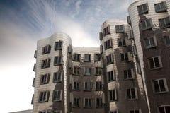 Ghery byggnad - Dusserldorf royaltyfri bild
