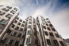 Ghery byggnad - Dusserldorf arkivfoto