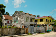 Ghetto, Belize City. Poor street in ghetto district, Belize City Stock Image