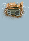 Ghetto blaster background Stock Images