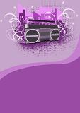 Ghetto blaster background Stock Image