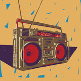 Ghetto blaster illustration Royalty Free Stock Photo