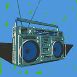 Ghetto blaster illustration Royalty Free Stock Image