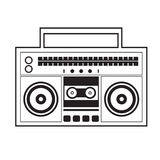 Ghetto Blaster Radio Royalty Free Stock Photos