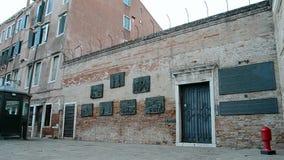 Ghetto (Campo Di Ghetto Nuova), Venice, Italy, stock footage