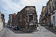 Ghetto in Catania. Old houses - ghetto streets in Catania, Sicily, Italy Royalty Free Stock Photography