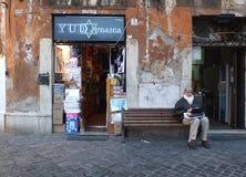 Ghetto ebreo a Roma fotografia stock