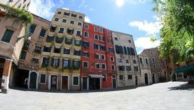 Ghetto ebreo a Venezia in Italia fotografie stock