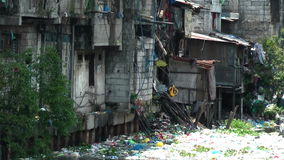 Ghetto in the Muslim district in Manila - Philippines Stock Image