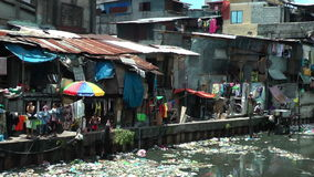 Ghetto in the Muslim district in Manila - Philippines Stock Images